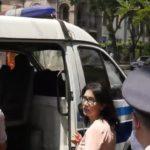 Սոնա Աղեկյանը բերման ենթարկվեց Սահմանադրական դատարանի բակից